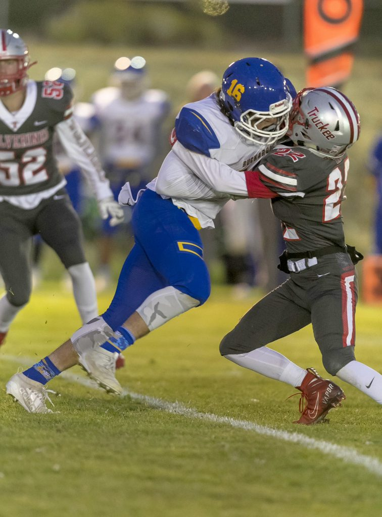 Truckee hands Lowry a 14-0 loss at home on Friday, Sept. 20.