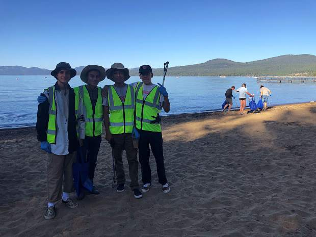 Volunteers picked up 168 pounds of trash during the annual Keep Tahoe Blue Labor Day Beach Cleanup.