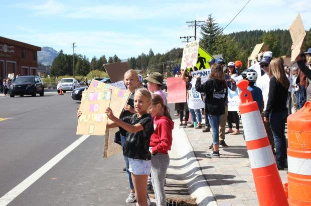 Over 200 students and community members participated in the strike on Friday.