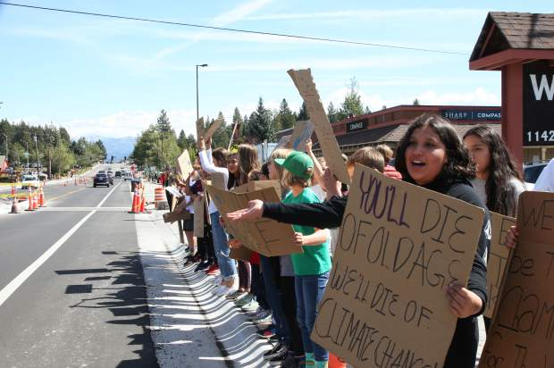 Truckee students joined others across the country that participated in the Global Climate Strike.