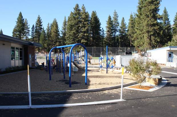Upgrades included a new playground and landscaping in the courtyard.