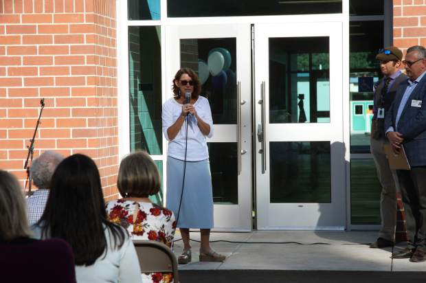Molly Holiday, a teacher at Kings Beach Elementary, spoke about the imrpovements at the school.