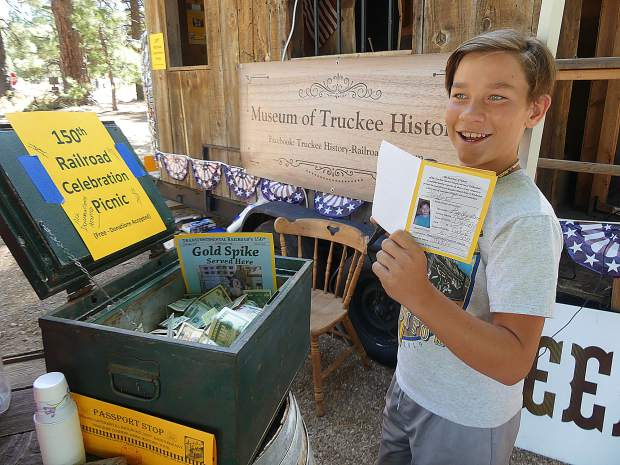 Hayden and his family from Truckee completed all 24 historical passport stops this summer.