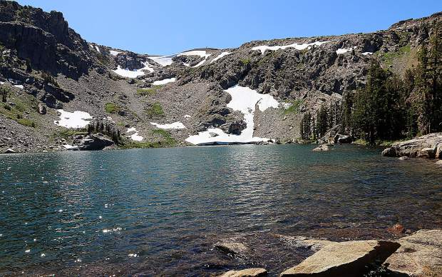Wonderful day at Emigrant Lake near Carson Pass on Labor Day Weekend.