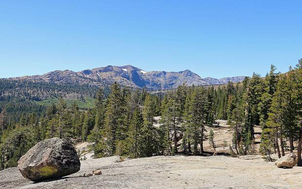 Amazing vistas from the Pacific Crest Trail south of Carson Pass on Labor Day weekend.