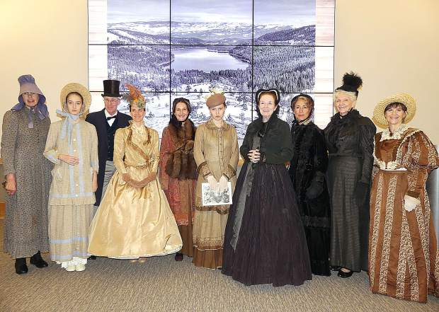 A good display and talk about the different dress's from the 1840's to early 1900's Saturday night. Speaker Series at Donner Memorial State Park - Cheri Oliver's Yesteryear.