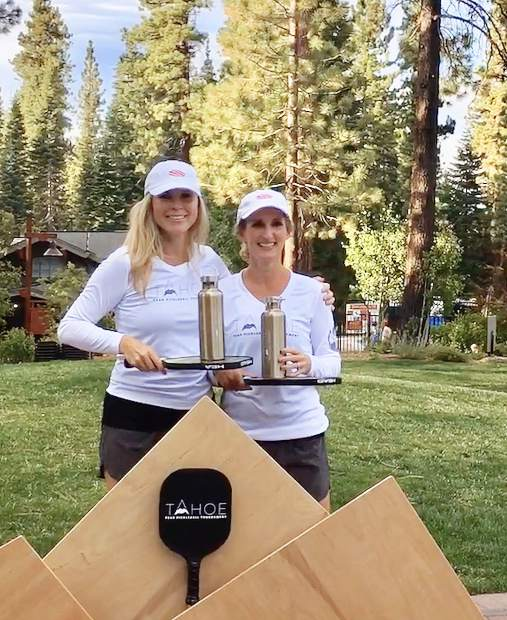 Trisha Pollack, left, and partner Christie Lammi won the women's gold 3.5-skill division. They live in Sacramento, and have a vacation house in Truckee at Northstar.