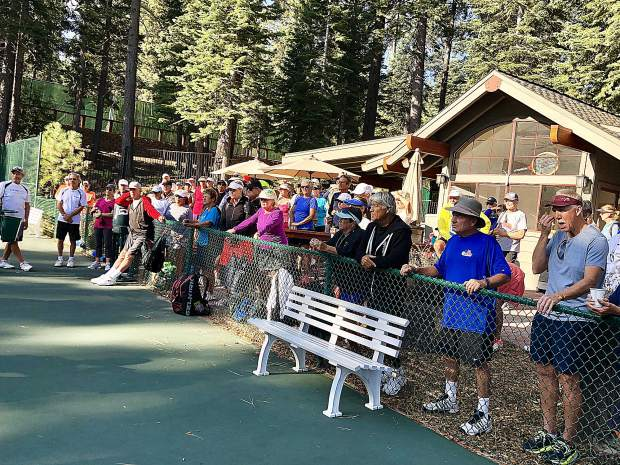 Opening day of Truckee's first pickleball tournament drew a large crowd of players and spectators.