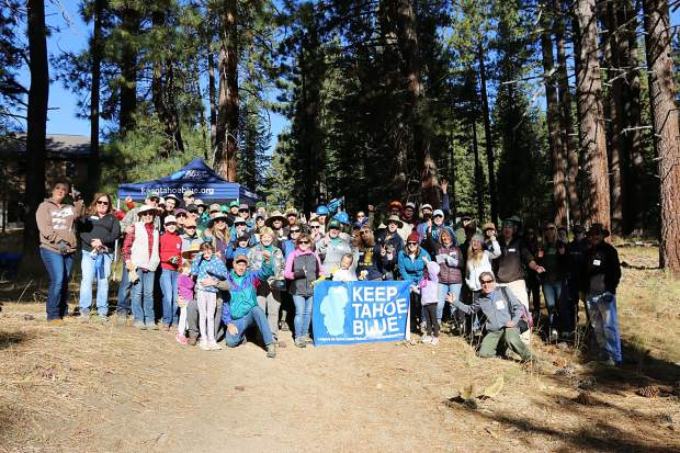 Volunteers pose at the 22nd annual Tahoe Forest Stewardship Day.
