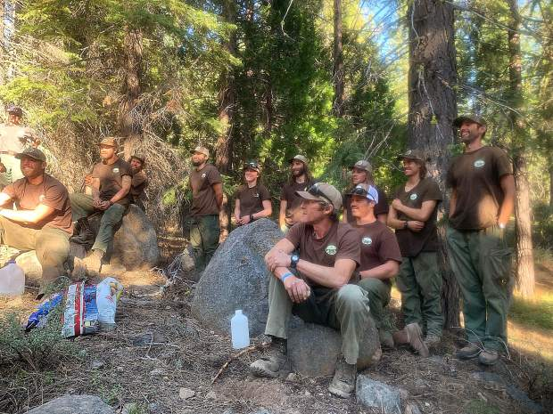 Truckee Hotshot, receive feedback during an After Action Review and receiving the announcement that they have been recertified as a Type 1 Hotshot Crew.