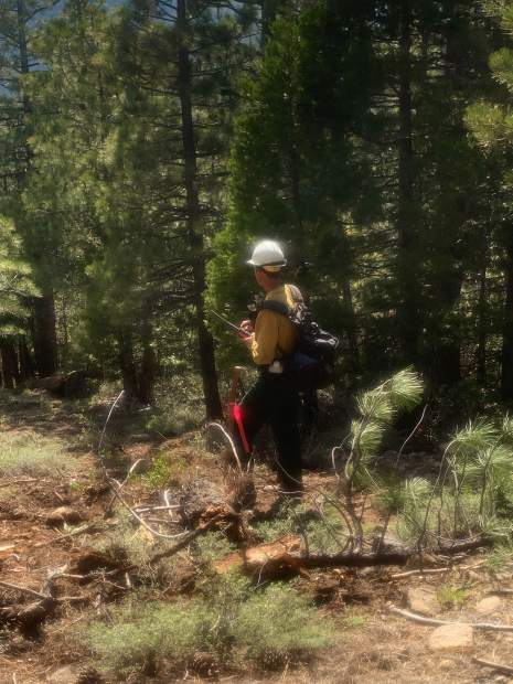 Former Tahoe Hotshot Superintendent and recertification evaluator Eric Rice, also Tahoe National Forest Division 3 Yuba River Ranger District.