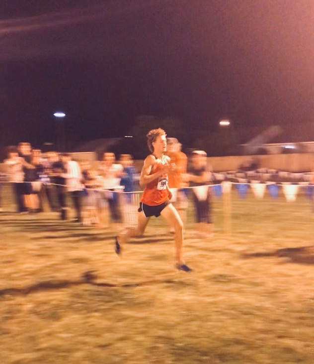 Senior Montana Montgomery runs to a first-place finish at the Nevada Twilight Classic.