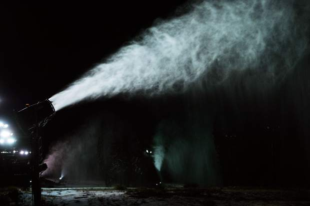 Boreal Mountain Resort fired up its snowmaking equipment on Monday for a test run. The resort could partially open in as little as two days notice if weather conditions permit.
