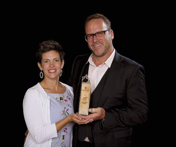 "Mountain Forge's Jennifer and Anton ""Toni"" Standteiner were presented with the Truckee Creative Award."