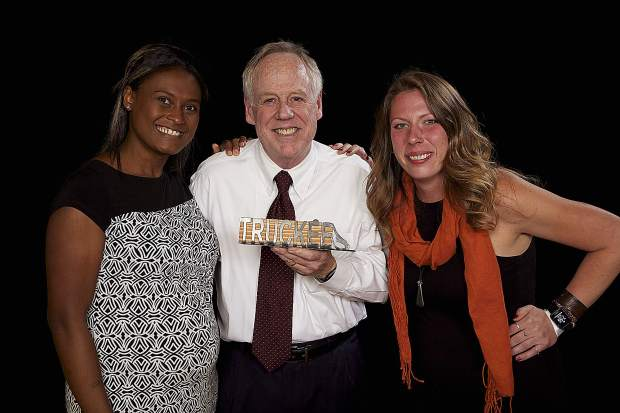 Garnett Perea, Steve Sewell, owner/founder Truckee-Tahoe Pet Lodge, and Cassidy Forsman accepted the Chairman's Award.