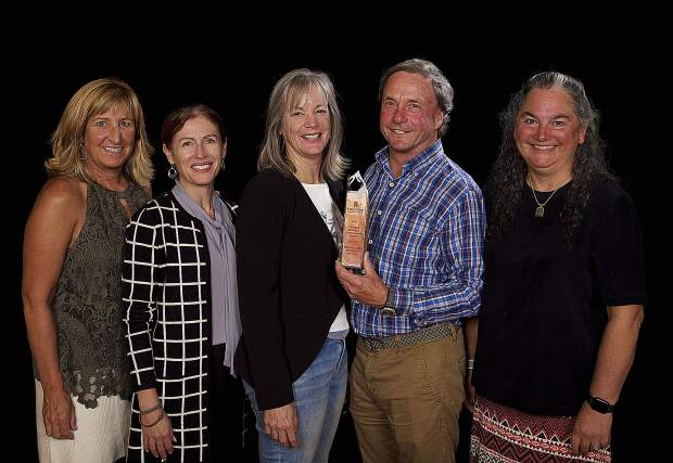 The Truckee River Watershed Council team accepted the Chamber's Business Stewadship award.