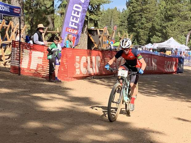 Truckee sophomore Matt Seline rides to his second win this season in the Nevada Interscholastic Cycling League. Seline won the overall points title with his win Sunday at Tahoe Donner.