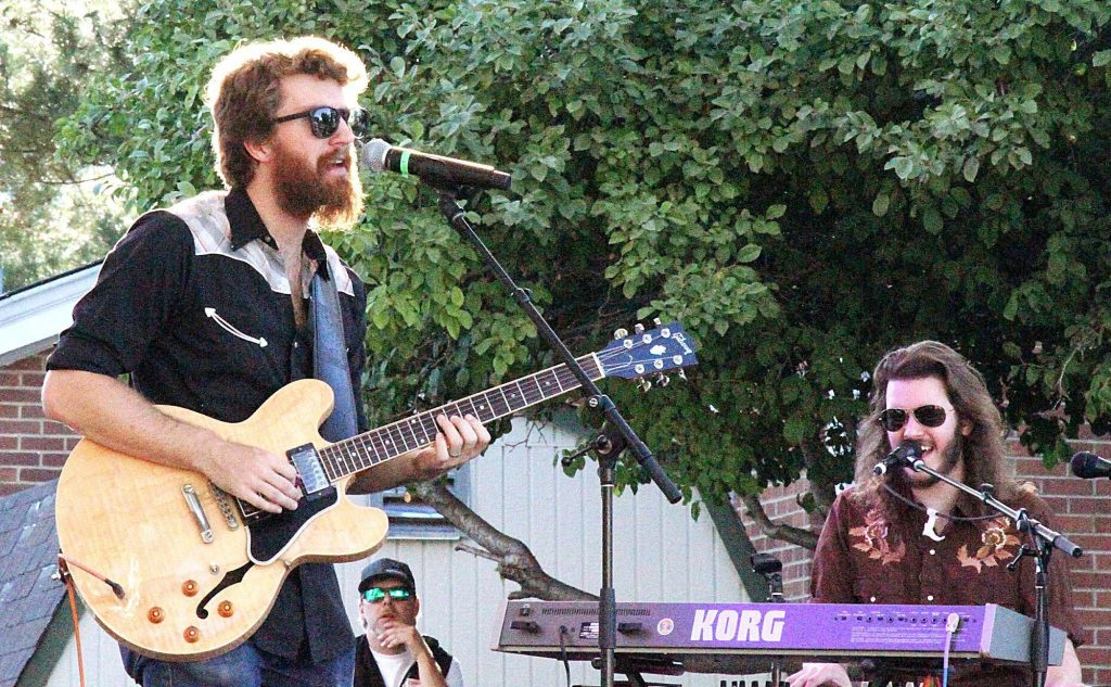 Midnight North opened the 10th annual Concert Under the Stars in Carson City July 11, 2018. Pictured here are band members Grahame Lesh and Alex Jordan.