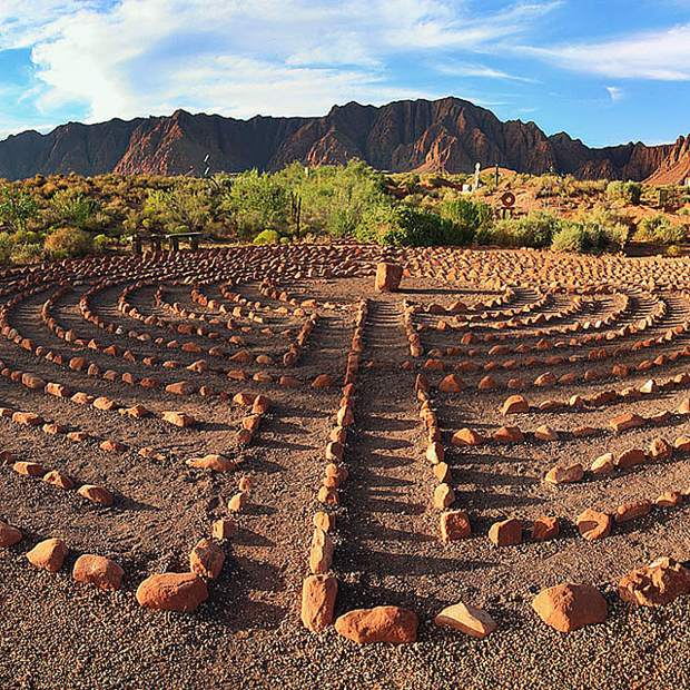 What is a labyrinth? It has only a single, non-branching path which leads to the center and then back out the same way, with only one entry/exit point. It is an ancient symbol that relates to wholeness. It combines the imagery of a circle and the spiral into a meandering but purposeful path.