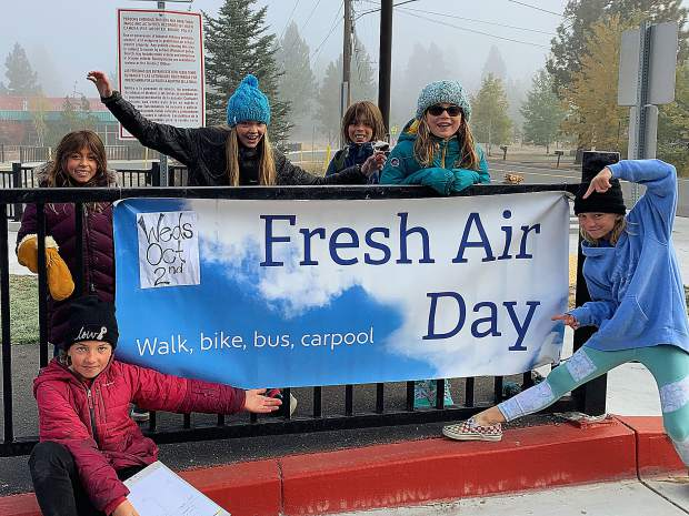 Students and their families participated in Fresh Air Day at Glenshire Elementary.