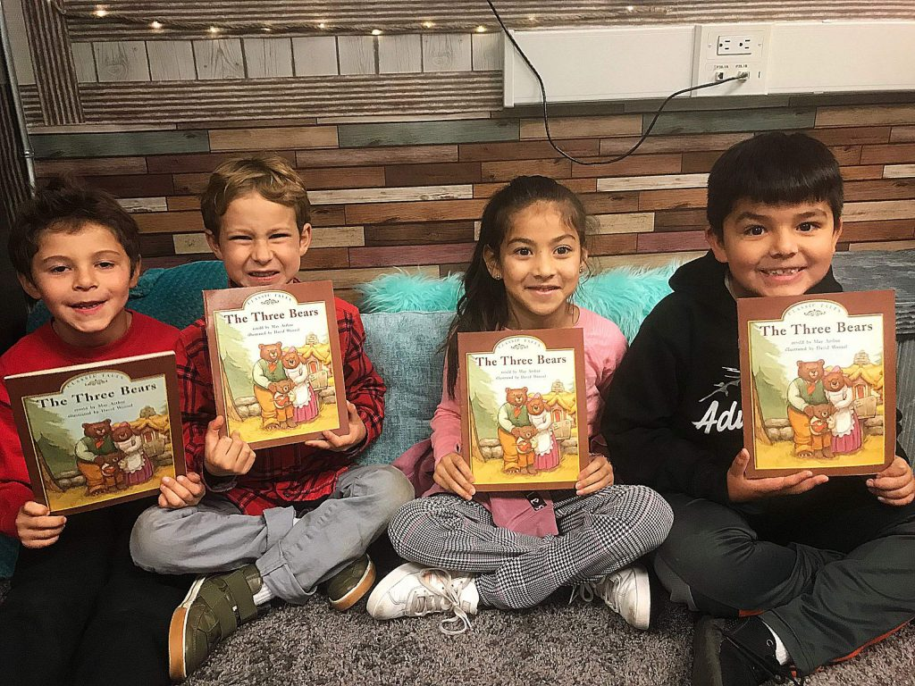 These Truckee Elementary second-graders are excited about reading!