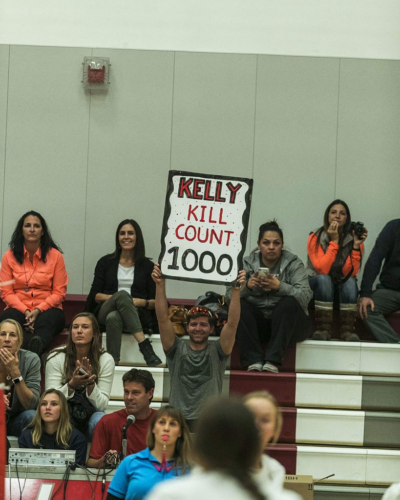 Truckee senior Kelly Cross reached 1,000 career kills against Fernley on Thursday, Oct. 24.