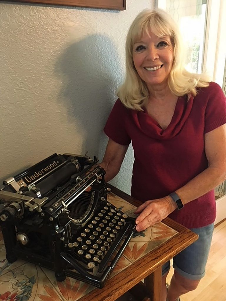 A piece of the Sierra Sun's journalistic history came back to the paper's offices recently when the granddaughter of former editor Walter Leamon (1936-67), Marcy Walker, donated the 1890s vintage Underwood typewriter her grandfather used for his 30 years at the newspaper. She worked at the Sierra Sun after school until she left to go to college.