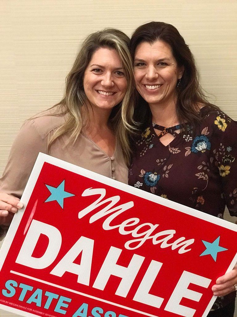 Once Megan Dahle, right, is officially sworn in, she'll go through training and start hiring campaign staff before quickly gearing up for the March 2020 primary. It will be her third election in eight months, with the fourth — the November 2020 election — to follow.