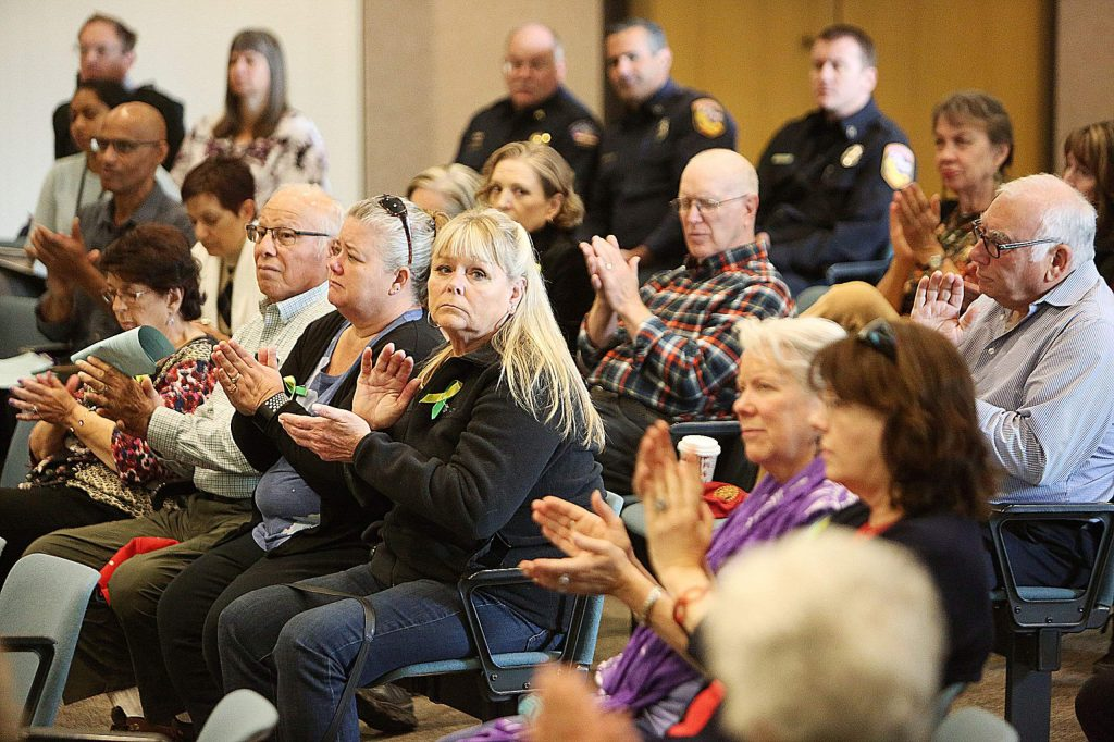 Attendees of Tuesday's Board of Supervisors meeting broke into applause following public comments about a Nevada County senior center.