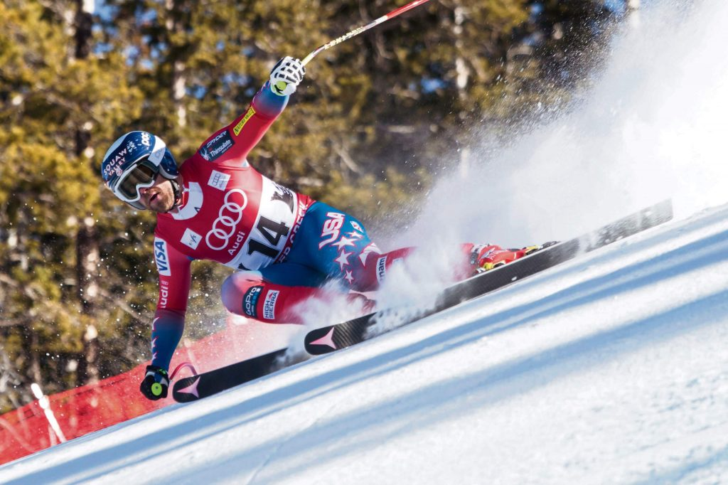 Travis Ganong of Squaw Valley is seen here competing in a 2015 Audi FIS Ski World Cup race in Beaver Creek, Colo. It was at least 1 year earlier that Ganong skied his greatest line ever.