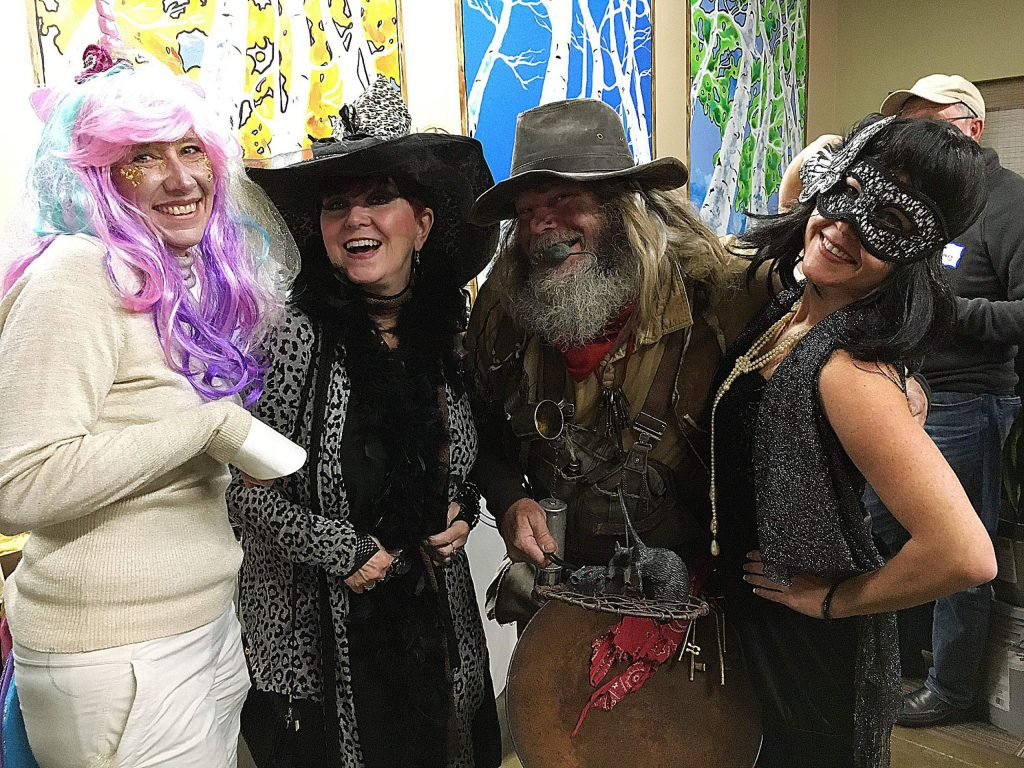 Christi D, Judith Vrooman, Greg Zirbel and Michelle Erskine livened up the Halloween Truckee Chamber mixer at the Sierra Sun's office earlier in the month.