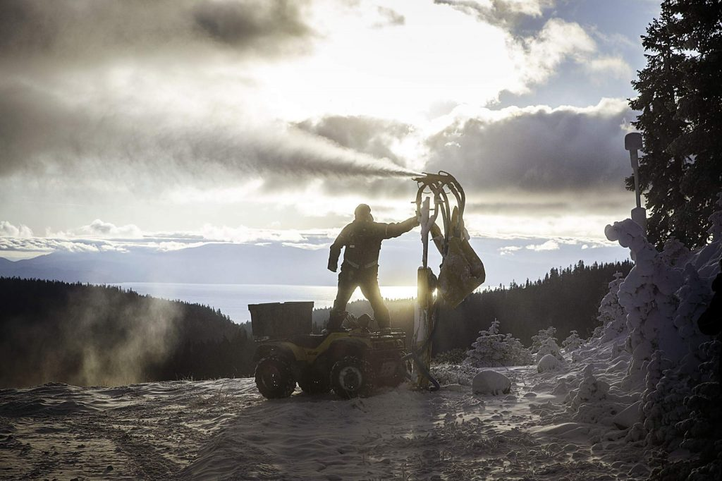 Squaw Valley's snowmaking team is targeting Red Dog and Squaw Creek as the next terrain to open.