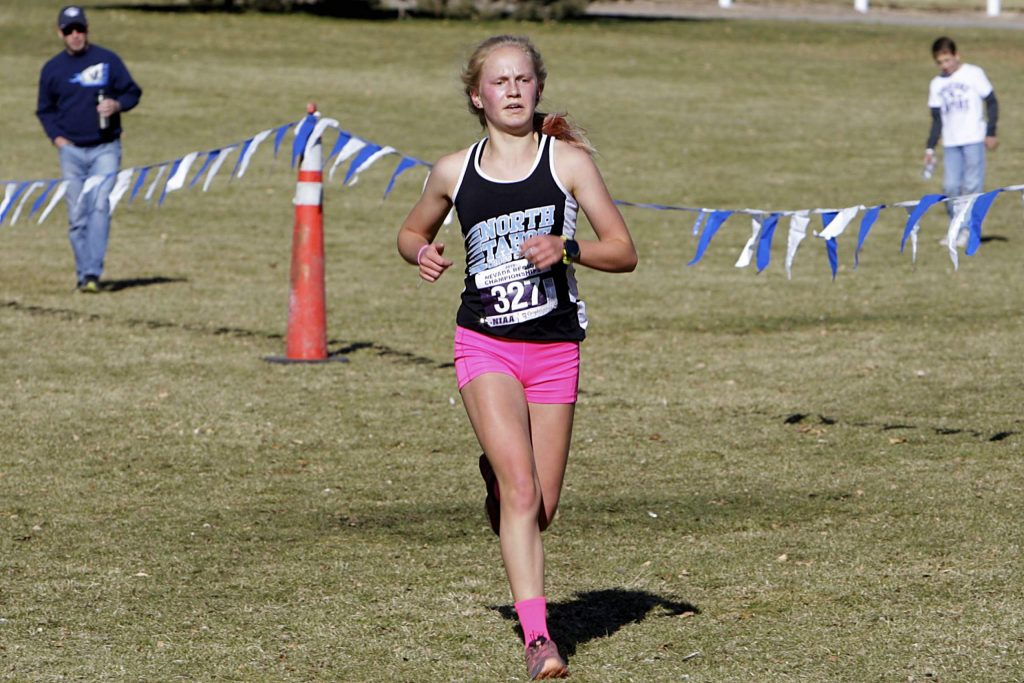 North Tahoe junior Kili Lehmkuhl captured the Class 2A Northern League cross-country last week. She will lead the league champion Lakers into the state meet tomorrow at 10 a.m.