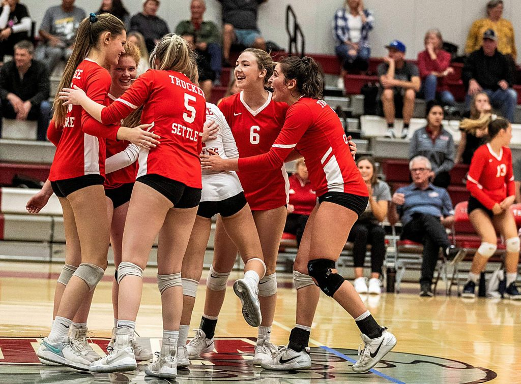 The Truckee volleyball team will play against the Southern League's No. 2 seed, Moapa Valley, today in Las Vegas.