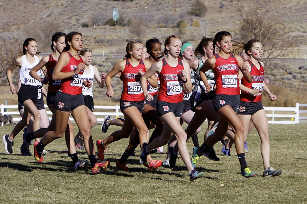 The Truckee girls' team ran to a second-place finish on Saturday at the Northern League cross-country championships.