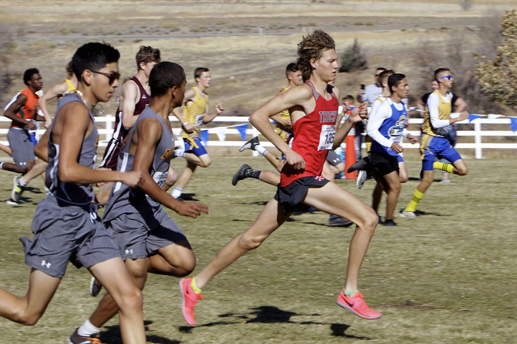 Truckee senior Montana Montgomery runs to a second-place finish at the state cross-country meet in Reno on Saturday.