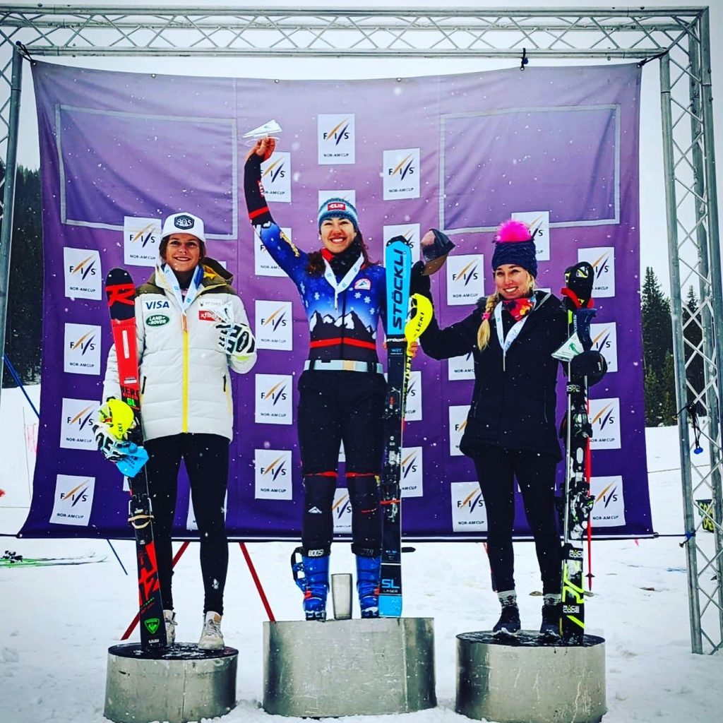 Lila Lapanja opened the alpine season by capturing first place in both of the North-American-Cup slalom events.