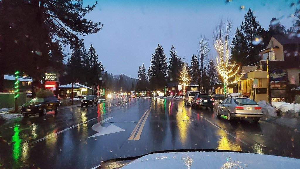 Tahoe City ready for the holidays.