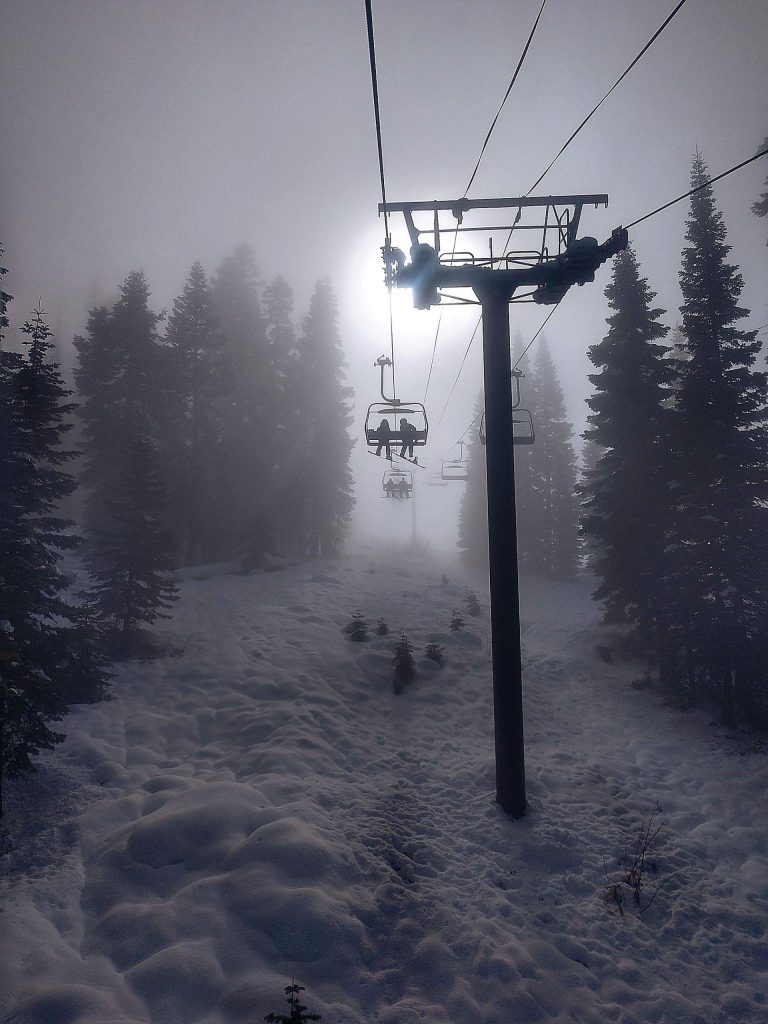 Chairlift to heaven at Northstar Resort.