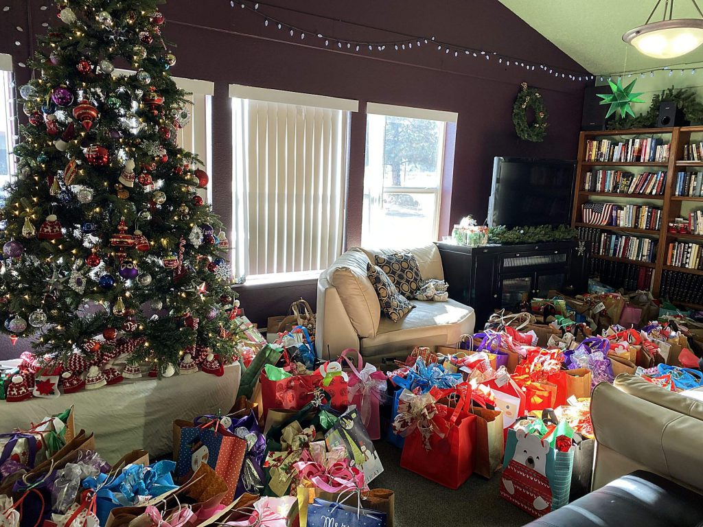 Truckee Donner Senior Apartments residents received hundreds of donated presents and about $6,000 in gift cards during an annual party.