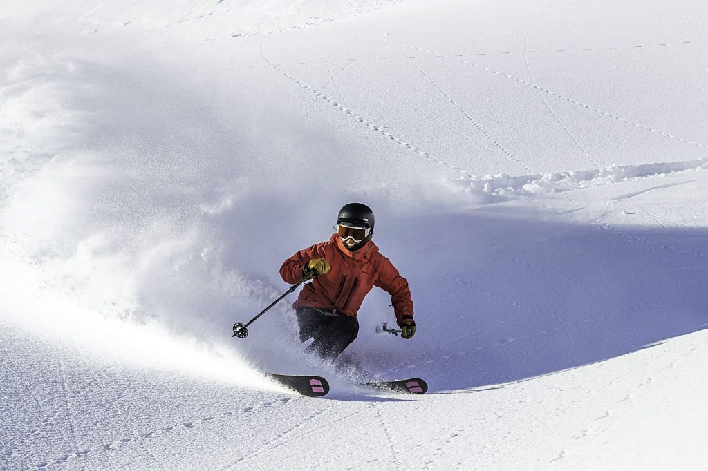 Rockered skis can have more use outside of soft snow, according to Luke Jacobson, chief executive officer of Moment Skis.