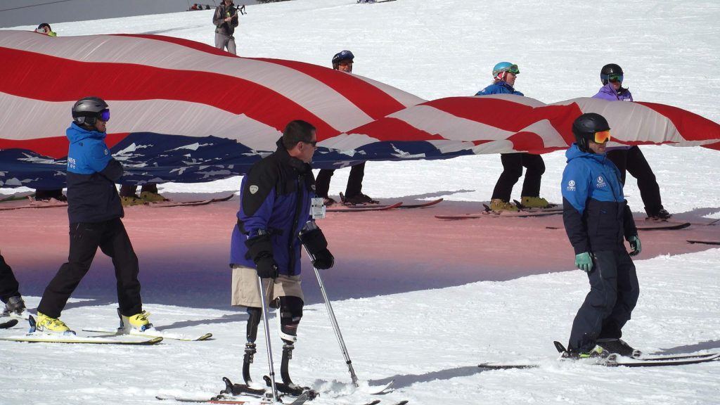 Retired Sgt. Dana Bowman, a special forces soldier and member of the U.S. Army elite parachute team was one of the spokespeople for the Anthem Winter Ski Fest hosted by Achieve Tahoe Jan. 22-25.