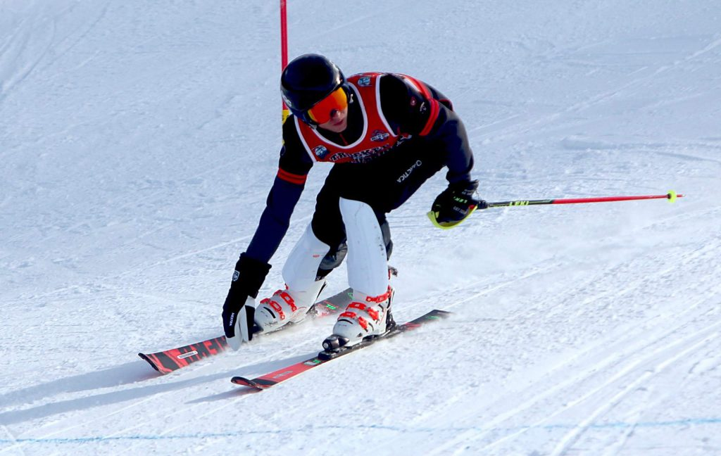 Truckee's Tyler Lamperti skis to a fifth-place finish at Heavenly.