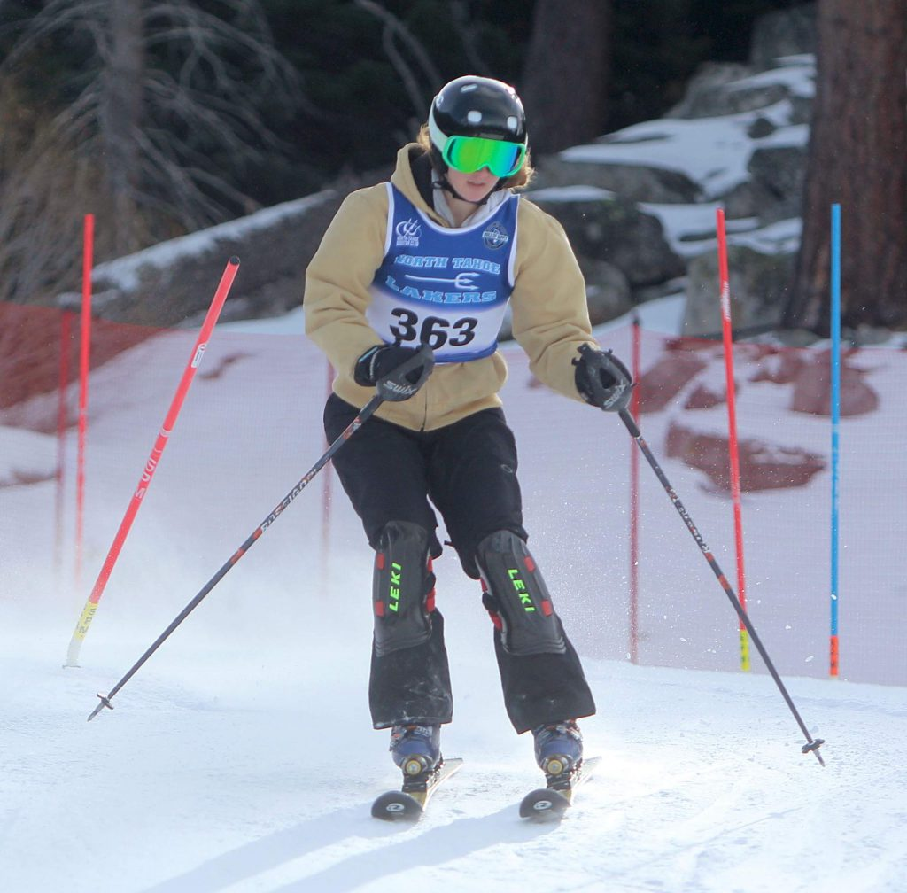 North Tahoe's Olivia Sproehnle races to a seventh place finish at Heavenly.
