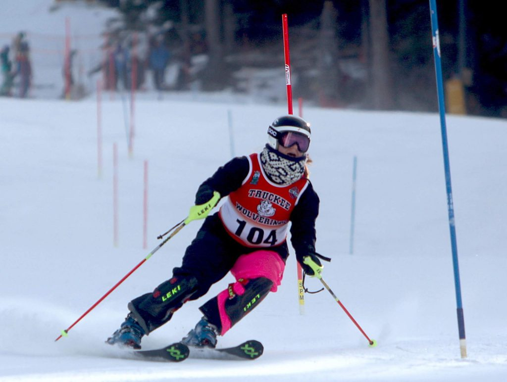 Truckee's Jacqui Roth skis to a ninth place finish at Heavenly on Wednesday.