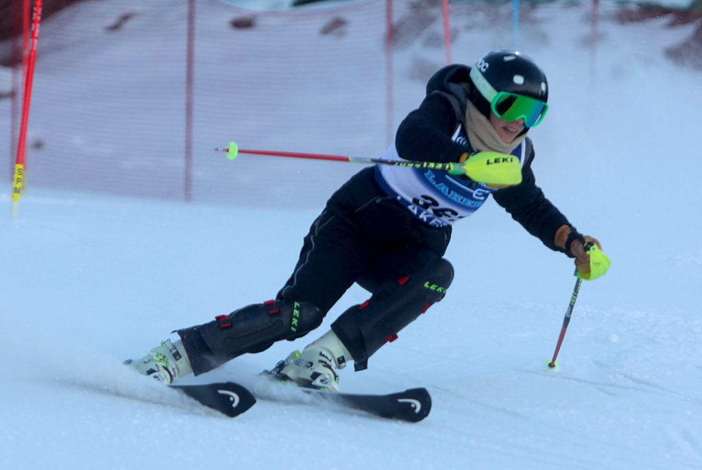 North Tahoe skier Aliza Neu leads the Lakers with a third-place finish.