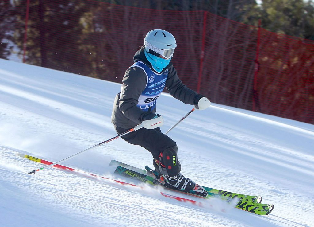 North Tahoe's Eva Turk skis to a fifth-place finish at Heavenly.