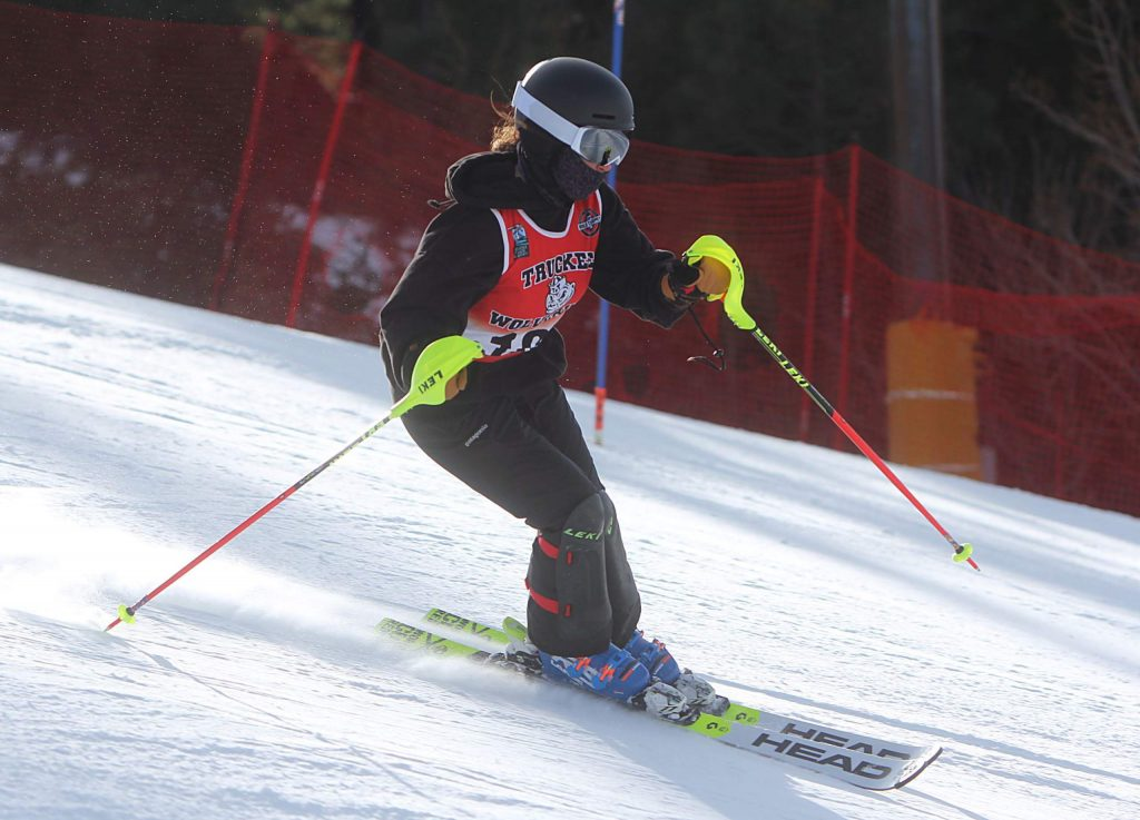 Truckee's Vanessa Lerner skis to a 10th-place finish at Alpine Meadows.