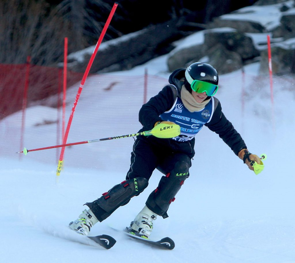 North Tahoe skier Aliza Neu races to a third-place finish.
