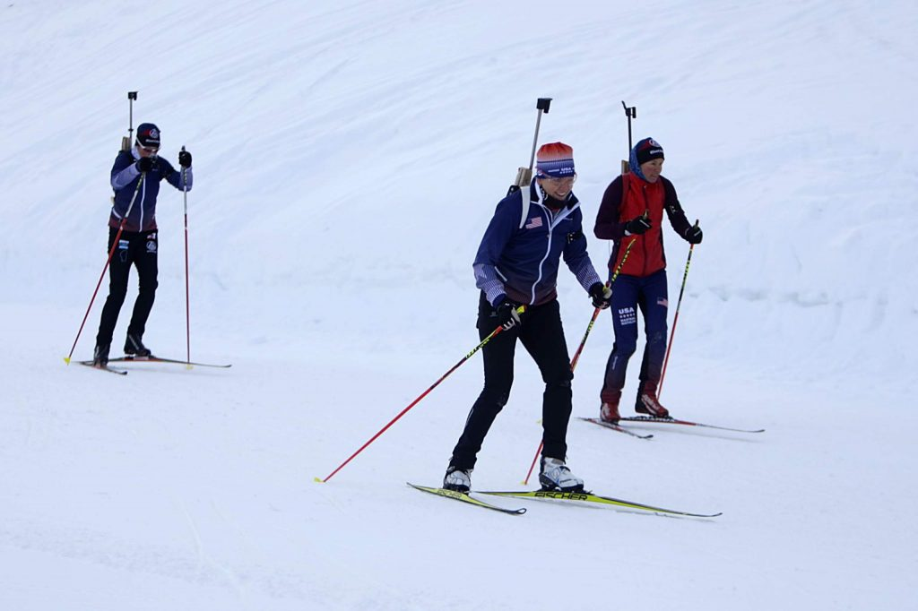 The Biathamoms will travel to Innsbruck, Austria, this month for the World Winter Masters Games.
